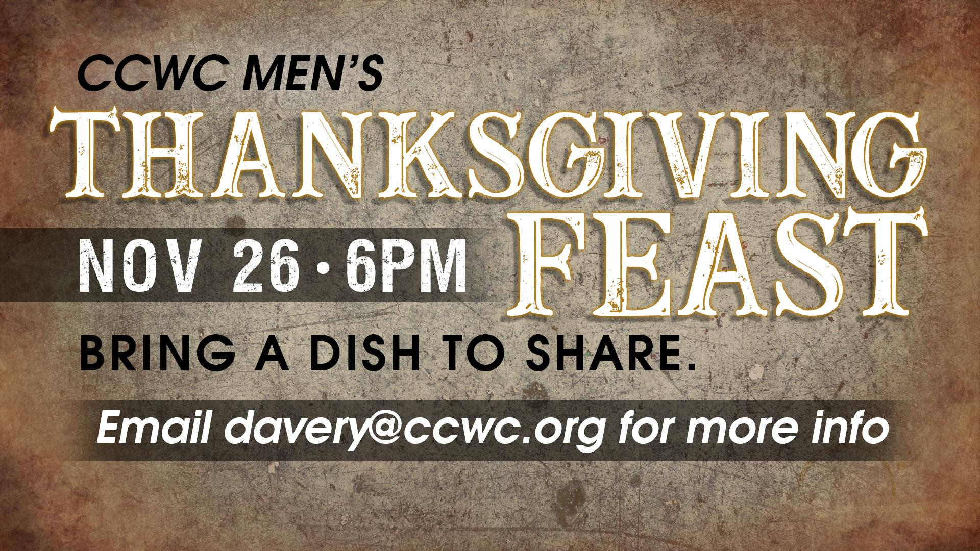 Men's Thanksgiving Feast