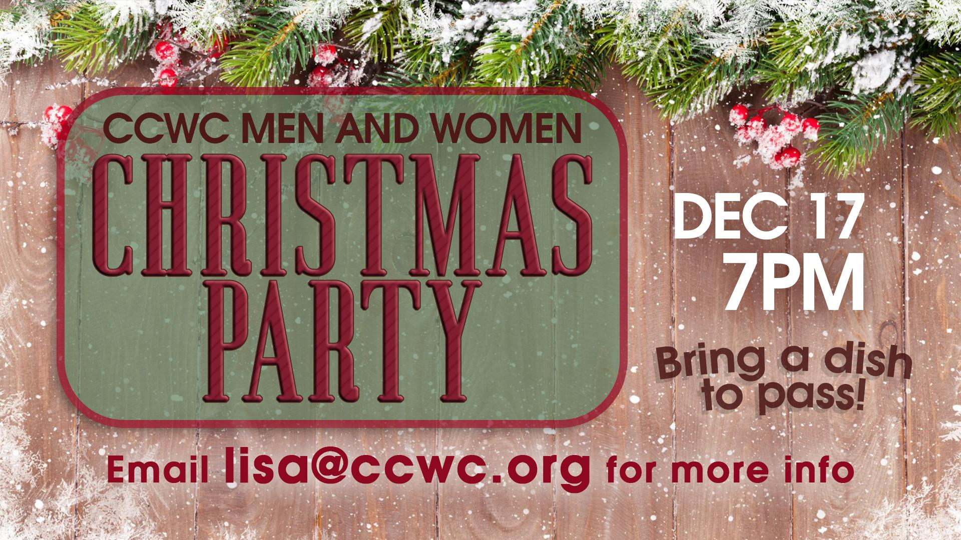 CCWC Mens & Womens Christmas Party