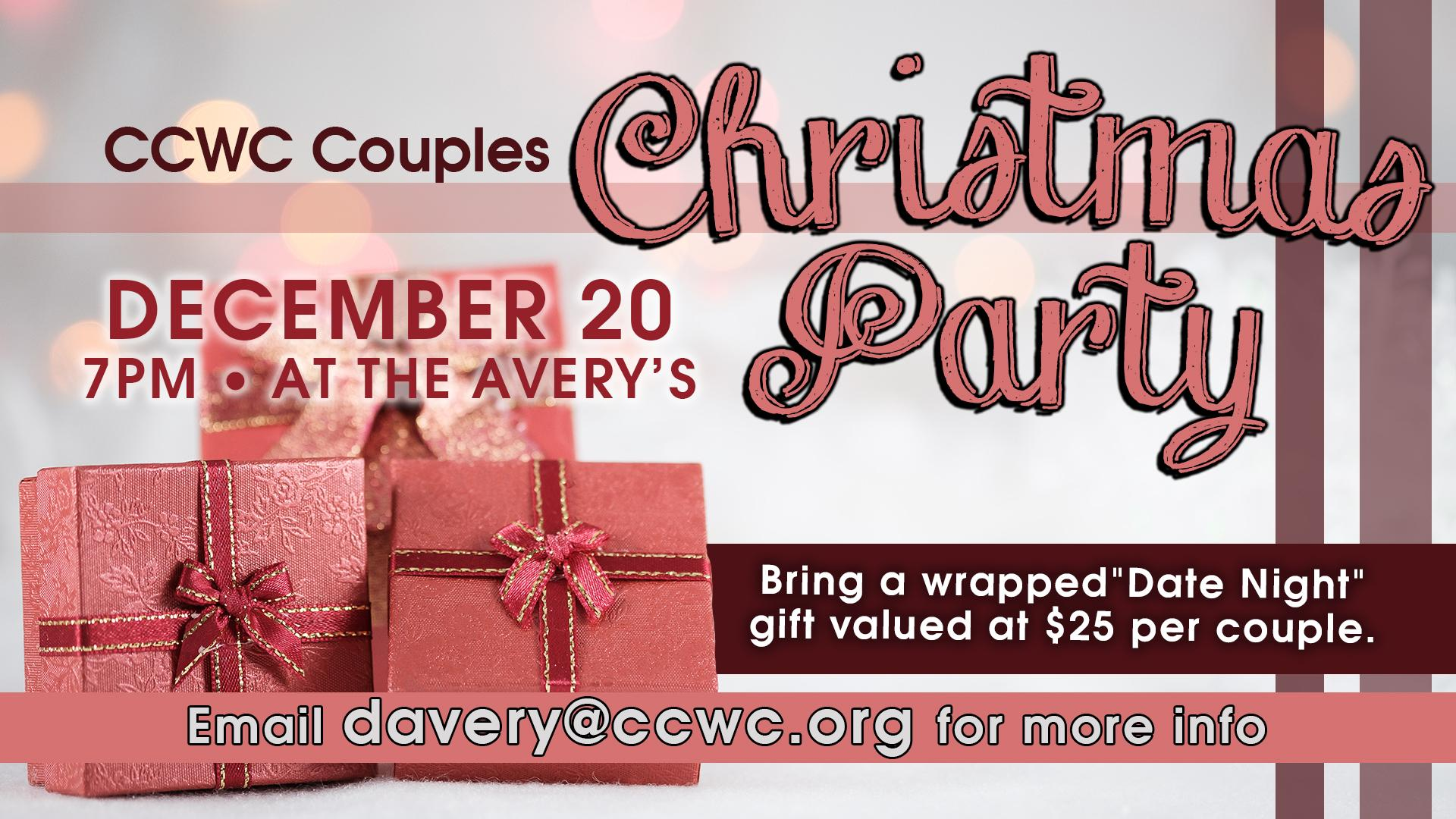 CCWC Couples Christmas Party