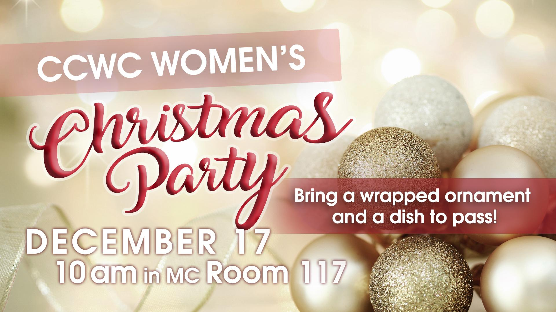 CCWC Women's AM Christmas Party